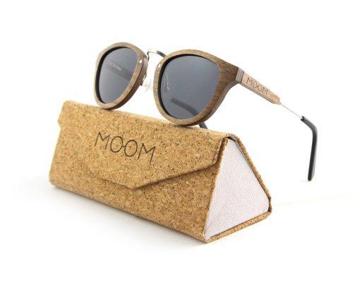 lunette soleil bois et pochette