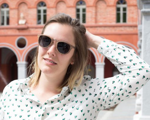 lunettes de soleil bois moom femme